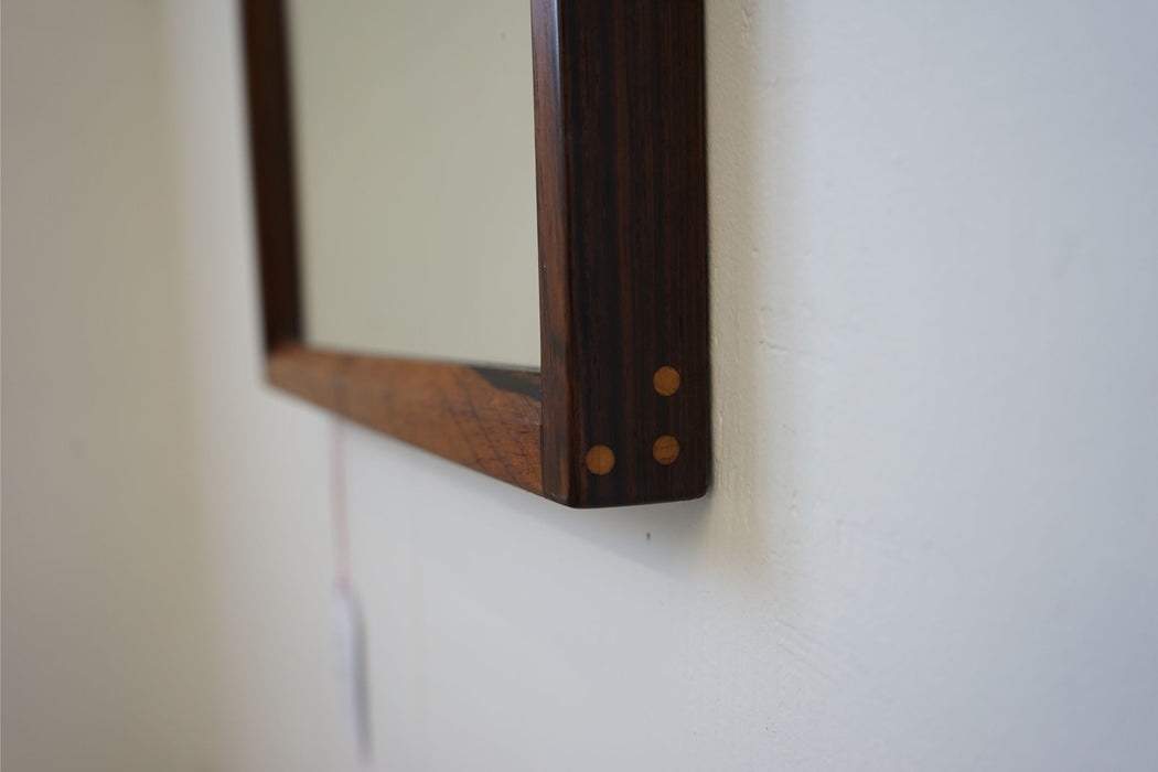 Danish Mid Century Mirror Made With Rosewood - (314-051.2)