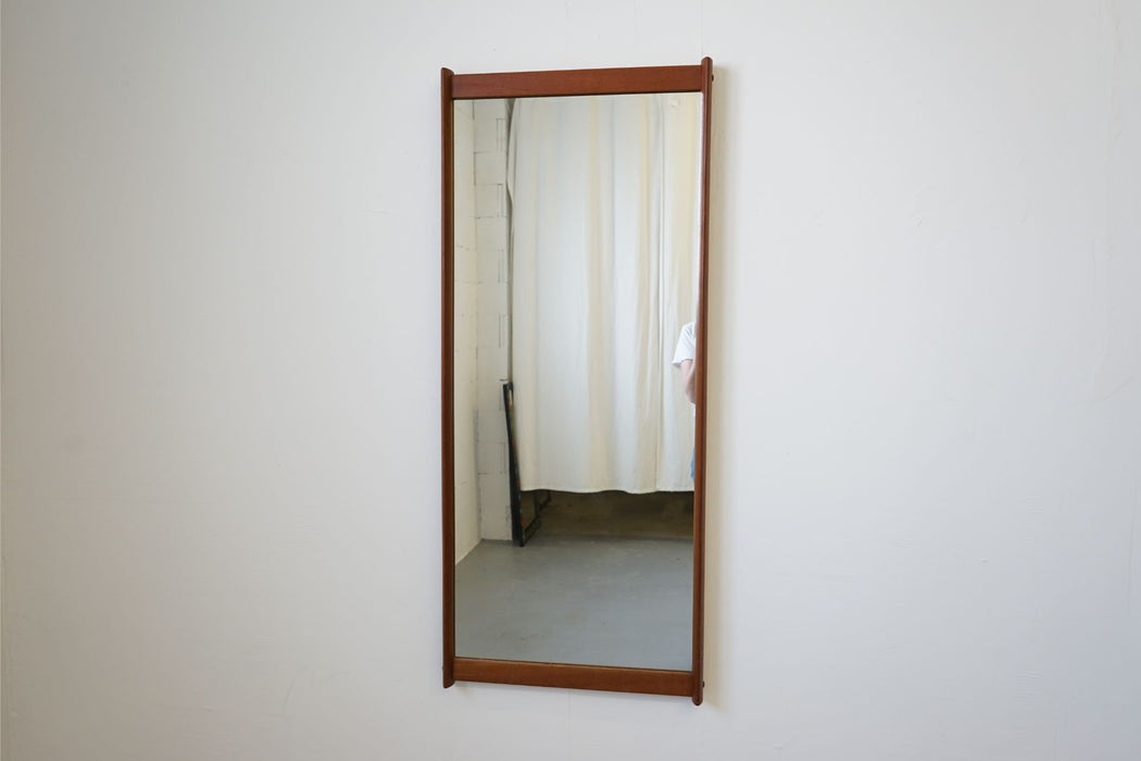Danish Mid Century Mirror Made With Teak - (314-028.2)