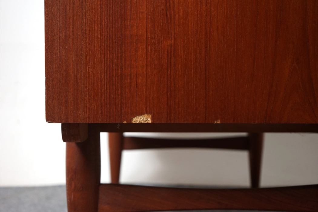Danish Mid Century Teak Secretary Desk - (317-041)