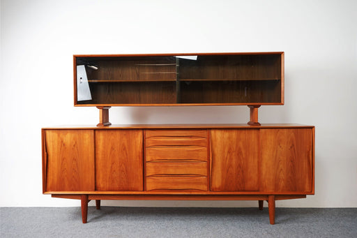 Danish Mid Century Teak Buffet with Hutch - (D751)