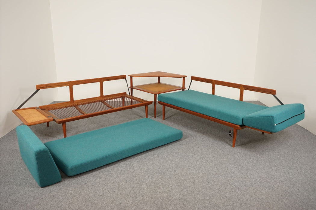 Minerva Teak Modular Corner Sofa Set By Peter Hvidt For France & Son - (D642)