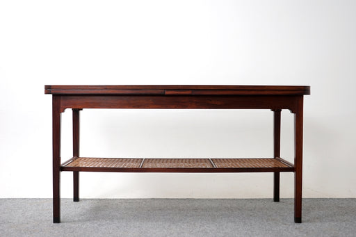 Danish Modern Expandable Rosewood Coffee Table With Shelf - (318-081)
