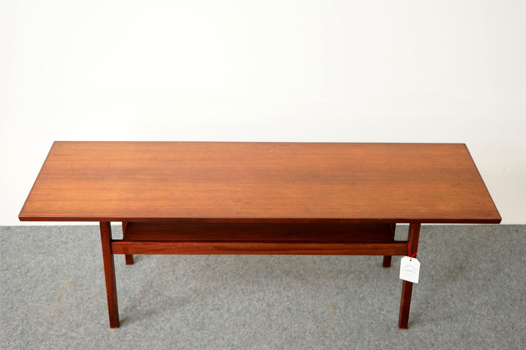 Danish Modern Teak Coffee Table - (316-078)