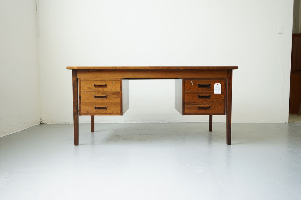A Danish Modern Desk Made With Rosewood - (312-004)
