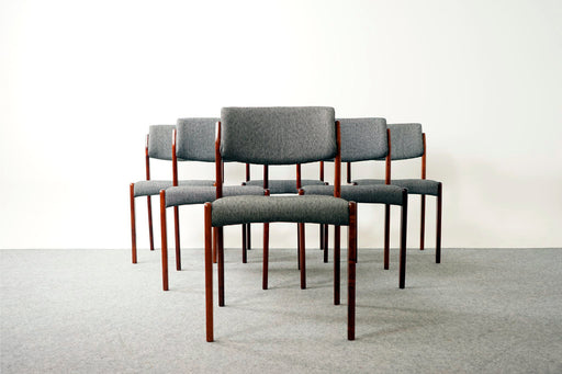 6 Danish Modern Rosewood Dining Chairs For Bramin - (D728)