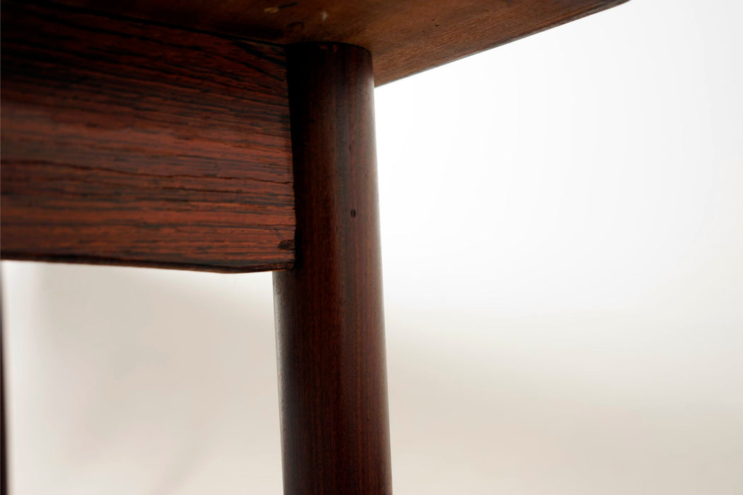 Danish Modern Rosewood Drawleaf Dining Table  - (318-008)