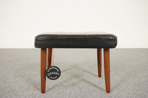 Danish Modern Footstool Made With Teak & Vinyl - (316-203.13)