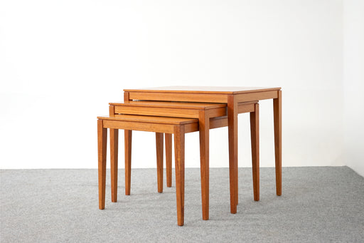 Danish Modern Teak Nesting Table by Bent Silberg - (D771)