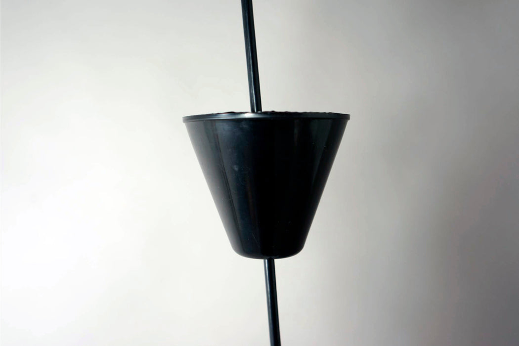 Danish Modern Metal Glass Pendant Light  - (314-187.4)