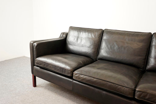 Danish Modern Leather Sofa By Stouby - (318-155)