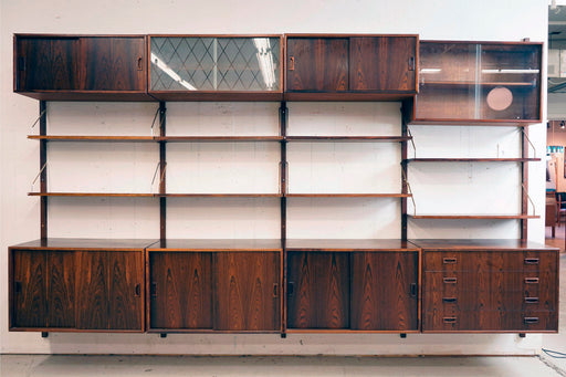 Danish Modern Rosewood Wall System - (316-111)