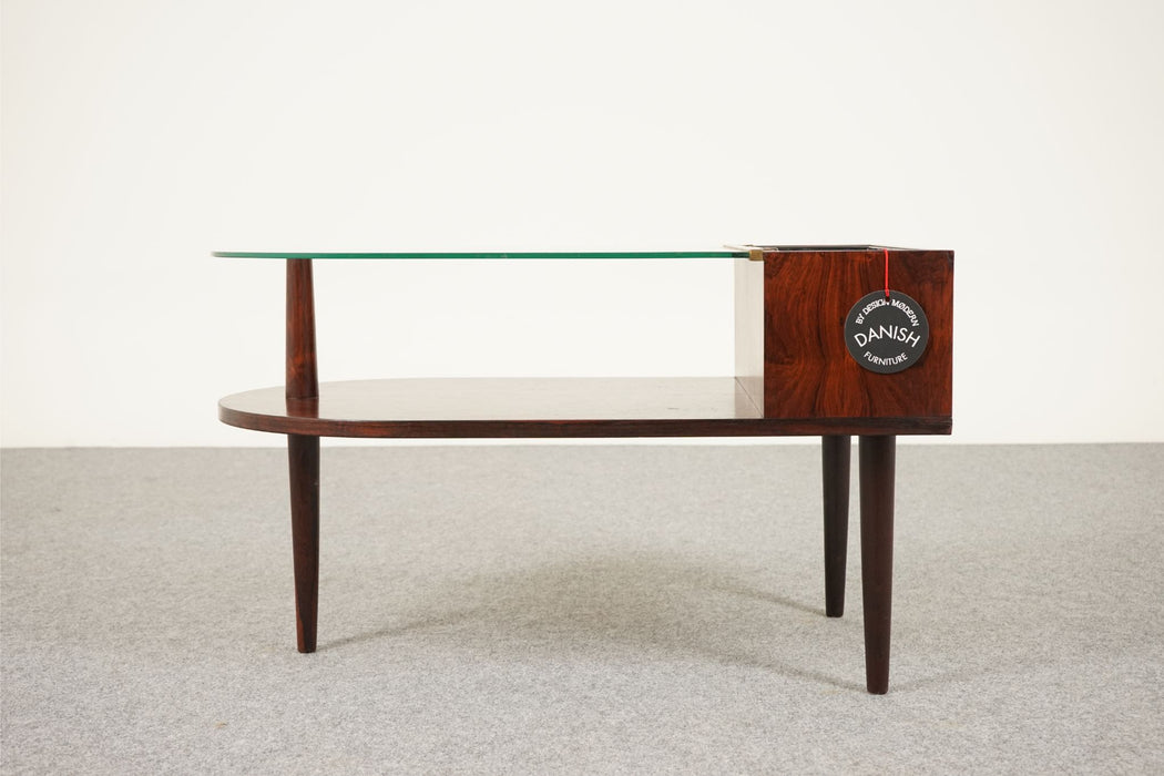 A Danish Planter Made With Rosewood & Glass - (312-097)