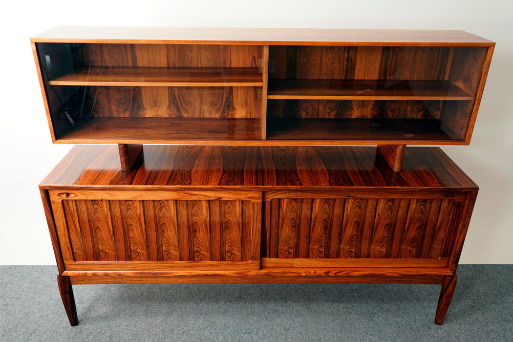 Danish Rosewood Buffet with Hutch By HW Klein For Bramin - (D680)