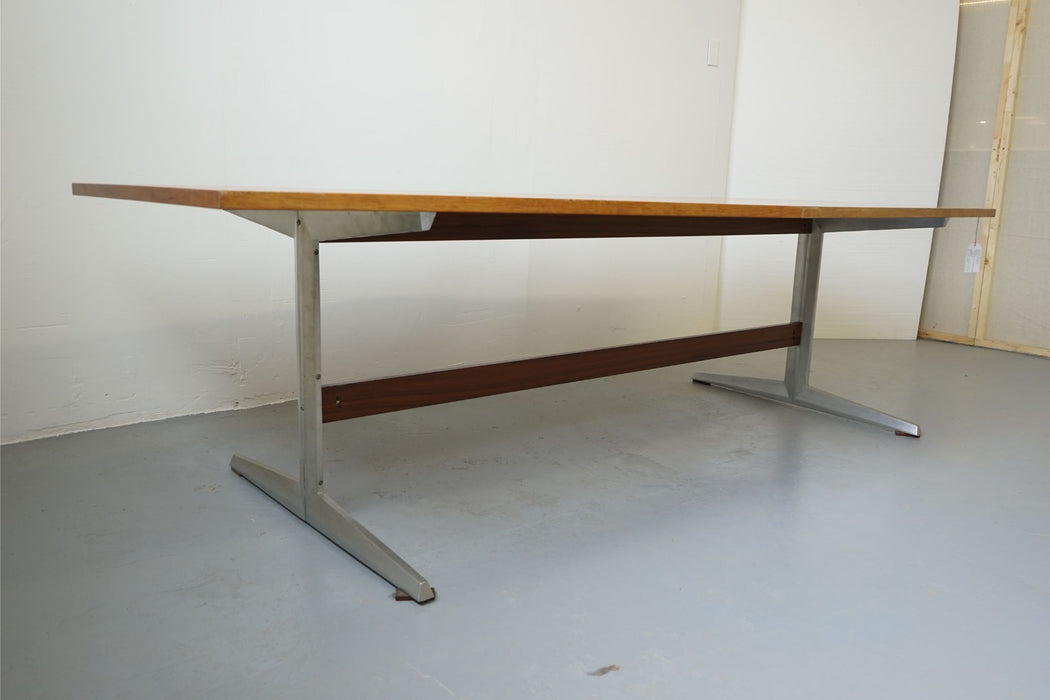 Danish Rosewood & Aluminium Conference Table By Marius Byrialsen (313-030)
