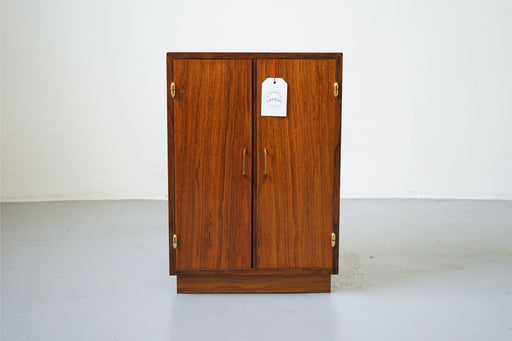 A Mid Century Bar Made With Rosewood - (312-229)