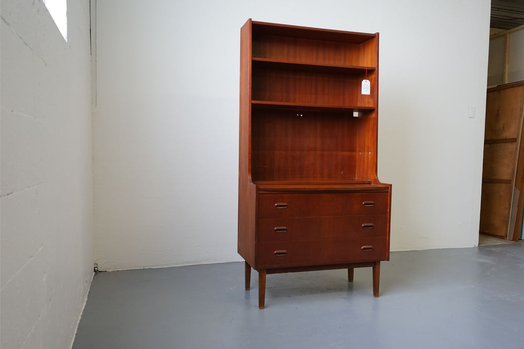 A Mid Century Bookcase Made With Teak - (312-133)