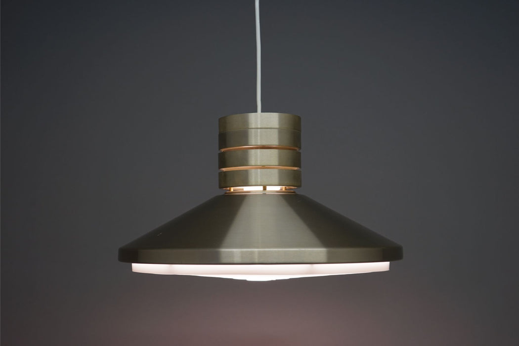 A Mid-Century Ceiling Light With Aluminium Shade - (312-118.2)