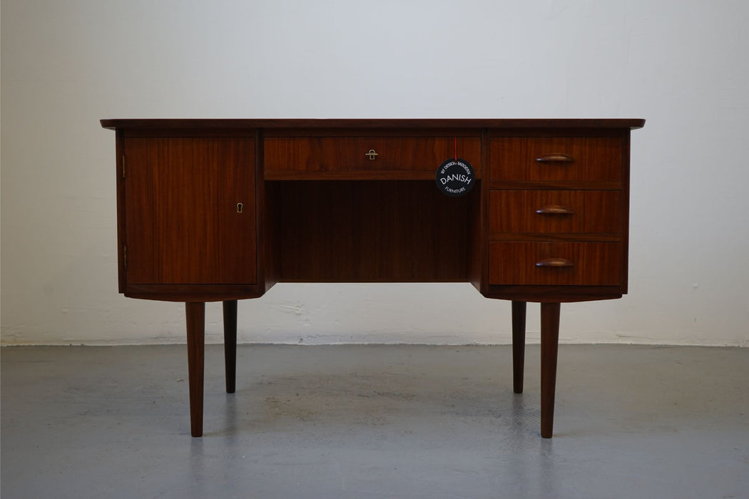 A Vintage Design Desk Made With Teak - (313-025.2)