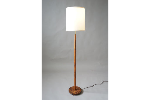 Mid Century Floor Lamp Made With Rosewood & Brass - (314-142)