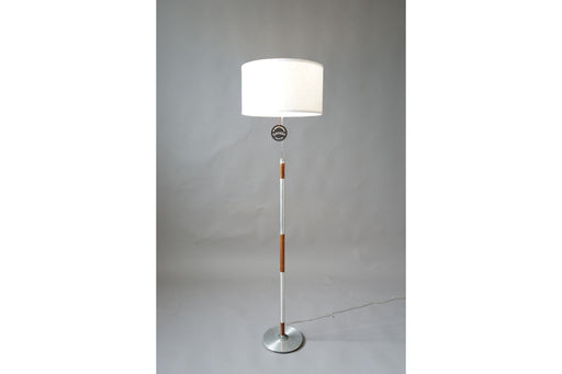Mid-Century Floor Lamp Made With Rosewood & Metal - (314-059.8)
