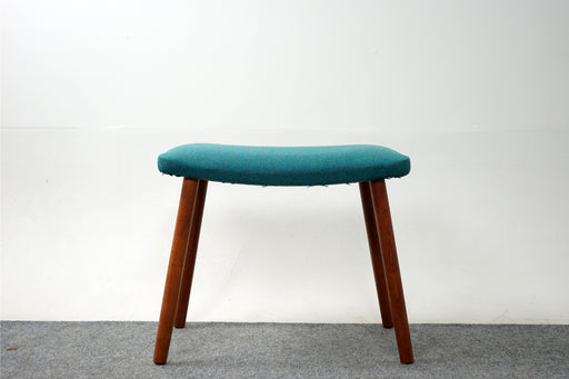 Wool & Beech Wood Footstool - (318-037)