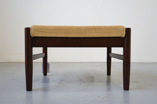 Mid Century Footstool Made With Beech - (314-003)
