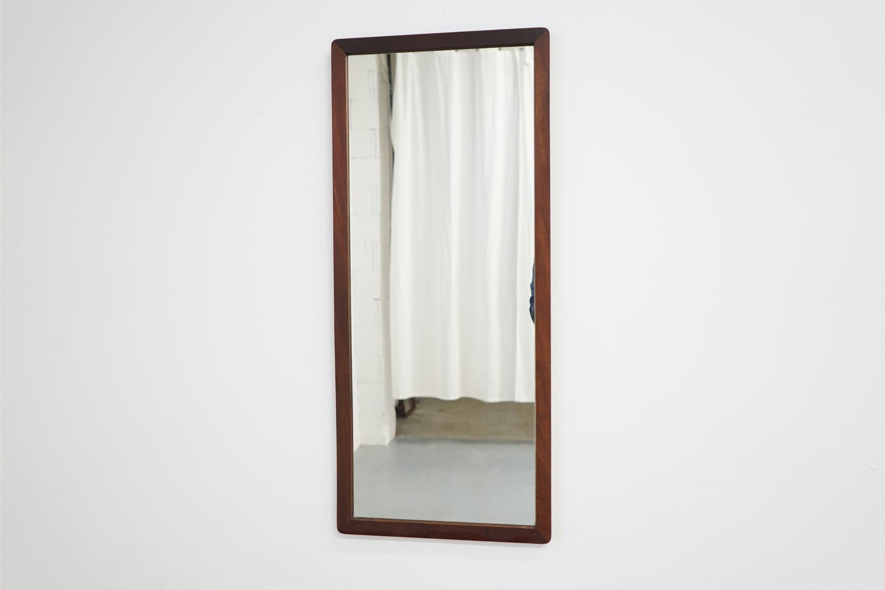 A Mid Century Mirror Made With Teak - (314-127.3)