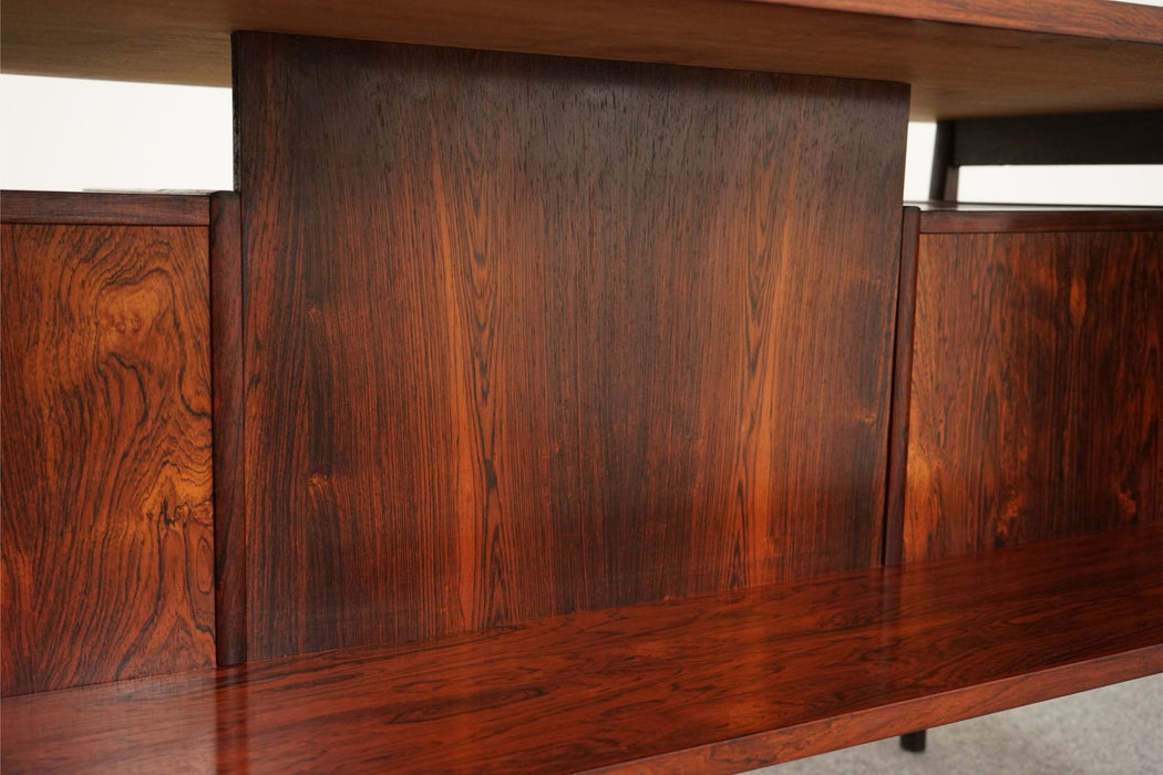 A Mid-Century Modern Desk Made With Rosewood - (312-193)