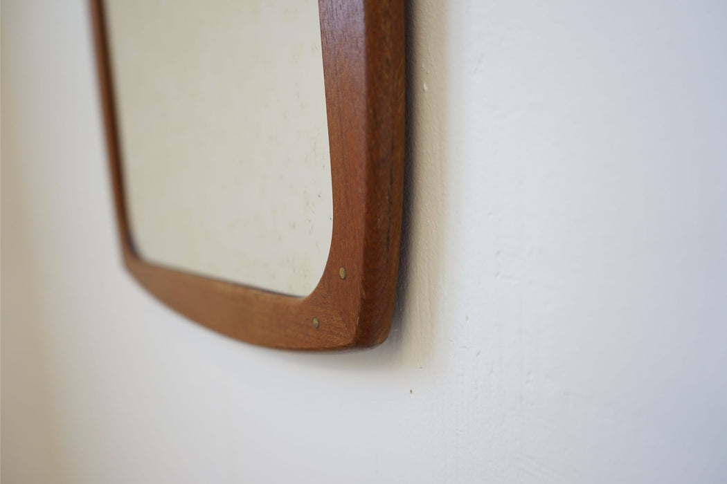 A Mid-Century Modern Mirror Made With Teak - (314-113.5)