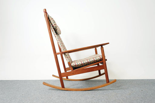 Mid Century Teak Rocking Chair by Hans Olsen- (316-144)