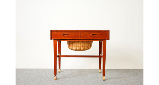 Mid Century Teak Sewing Table  - (D696)