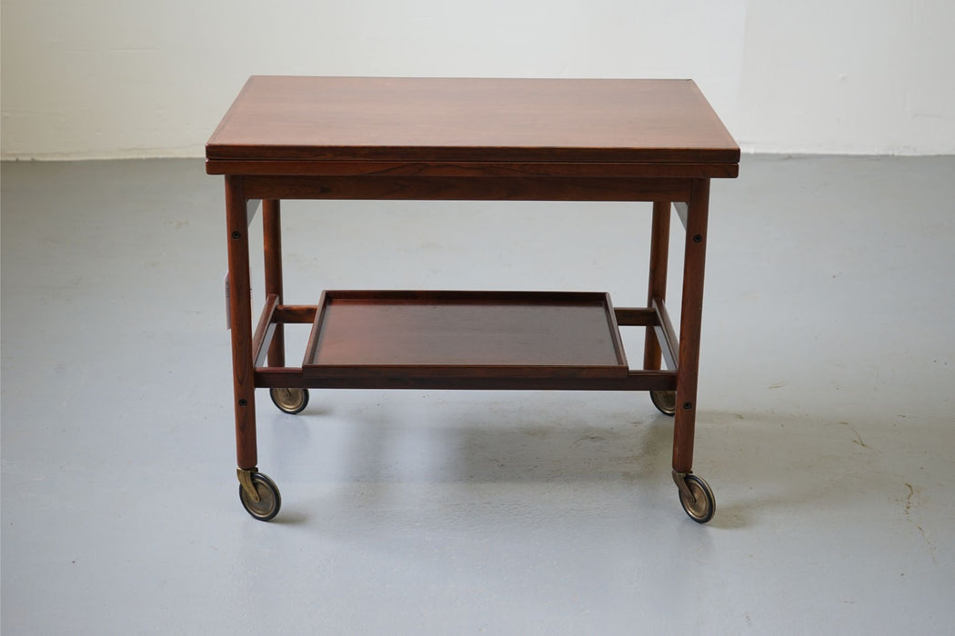 A Scandinavian Bar Cart Made With Rosewood - (D547)