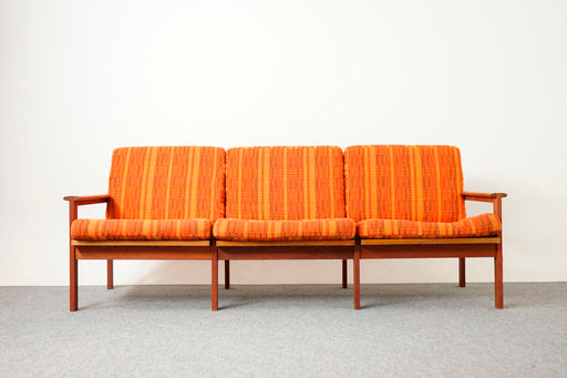 "Scandinavian Teak ""Capella"" Sofa By Illum Wikkelso - (D715)"