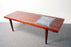 Scandinavian Rosewood and Tile Coffee Table - (318-042)
