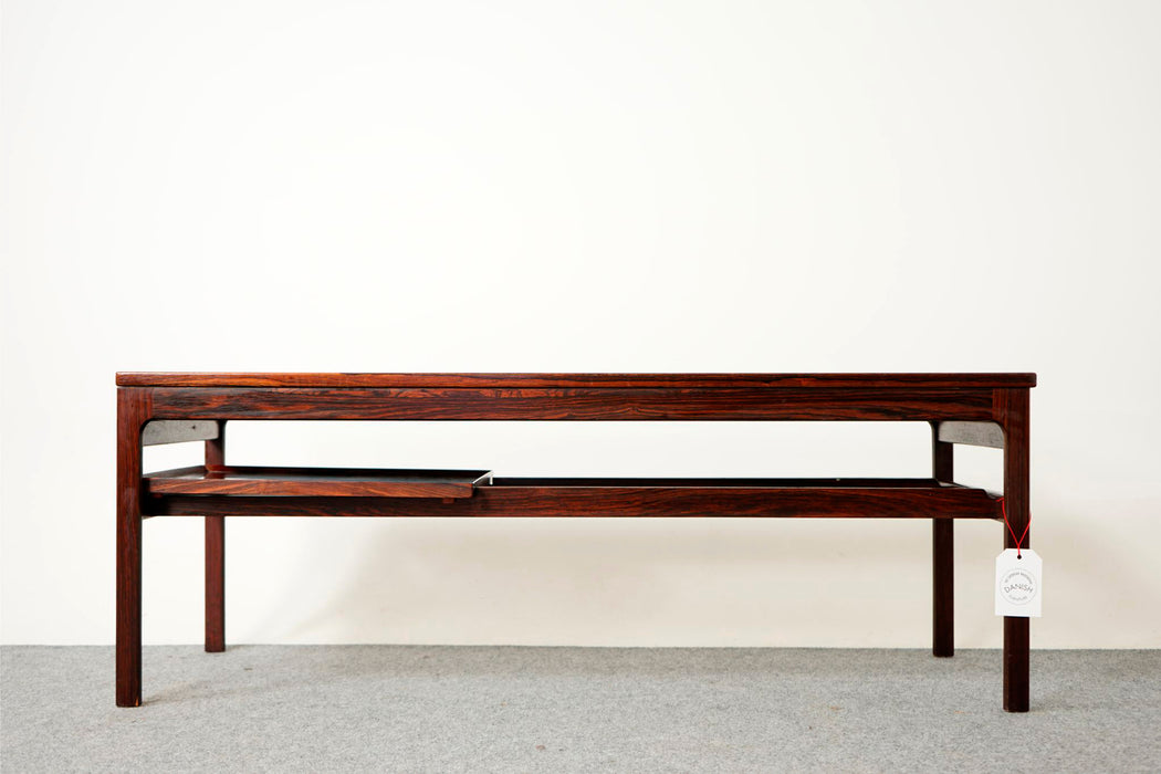 Expandable Rosewood Coffee Table with Tray - (316-062)