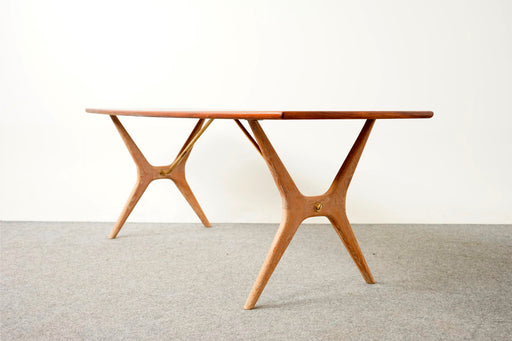 Scandinavian Teak and Oak Coffee Table by K. E. Ekselius- (317-087)
