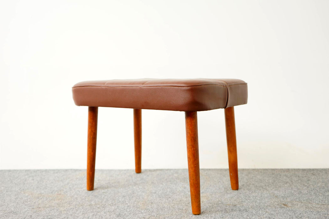 Scandinavian Footstool Made With Beech & Vinyl - (316-203.15)