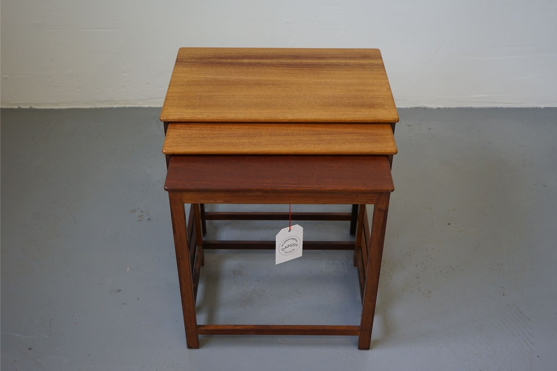A set of Scandinavian Nesting Tables Made With Teak - (312-213)