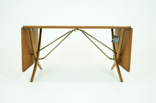 Danish MCM Hans Wegner Teak & Oak Dining Table Model AT304 For A.Tuck - (D347)