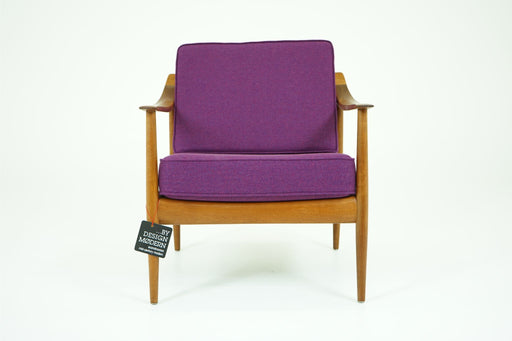 Teak Antimott Lounge Chair + Wool Cushions Walter Knoll For Knoll - (311-011.1)