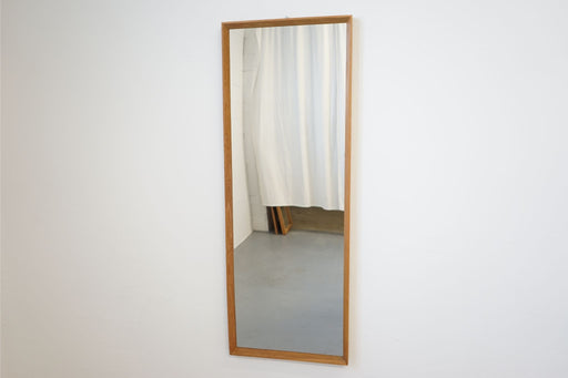 A Vintage Modern Mirror Made With Oak - (314-097.9)