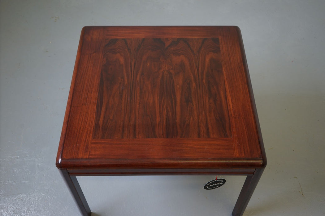 A Vintage Modern Side Table Made With Rosewood - (D546)