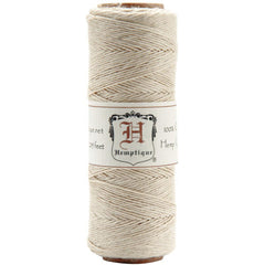 Hemptique Natural Hemp Cord / Twine - 205 Feet, 0.5mm Thick 10lb Strength