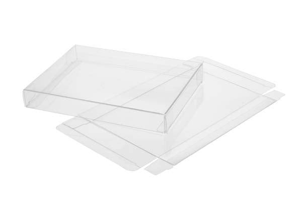 5 Clear Soft Fold Boxes  Holds Up To 75 8.5 x11's Size 8 5/8 x 5/8 x 11 1/8