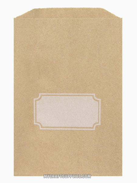 "5"" x 7.5"" Kraft Paper Bags with Gift Tag Design for Personalization (Set of 25)"