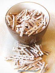 100 Miniature 1 Inch Wooden ClothesPins
