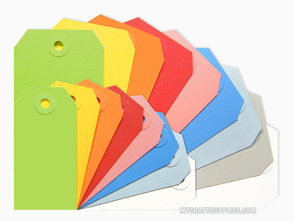 Multi-colored Parcel Tags