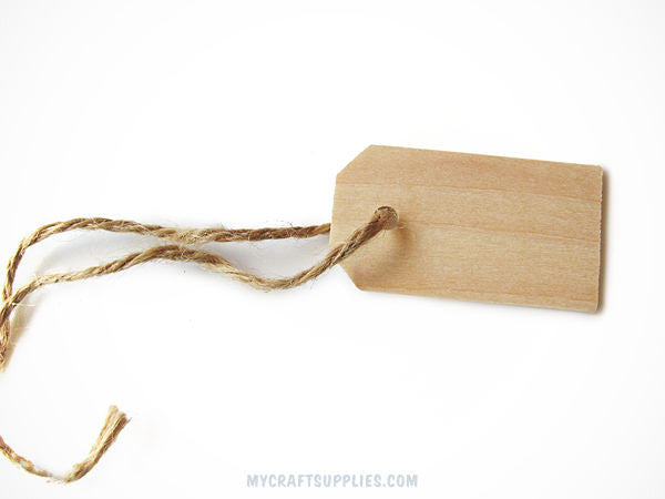 25 Natural Wood Rectangle Hang Tags, 2 1/4""