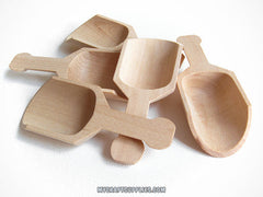 "10 Natural Wood Scoops, 3.0"" Long"
