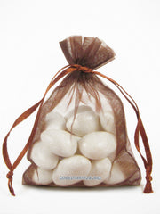 Chocolate Brown Organza Bags
